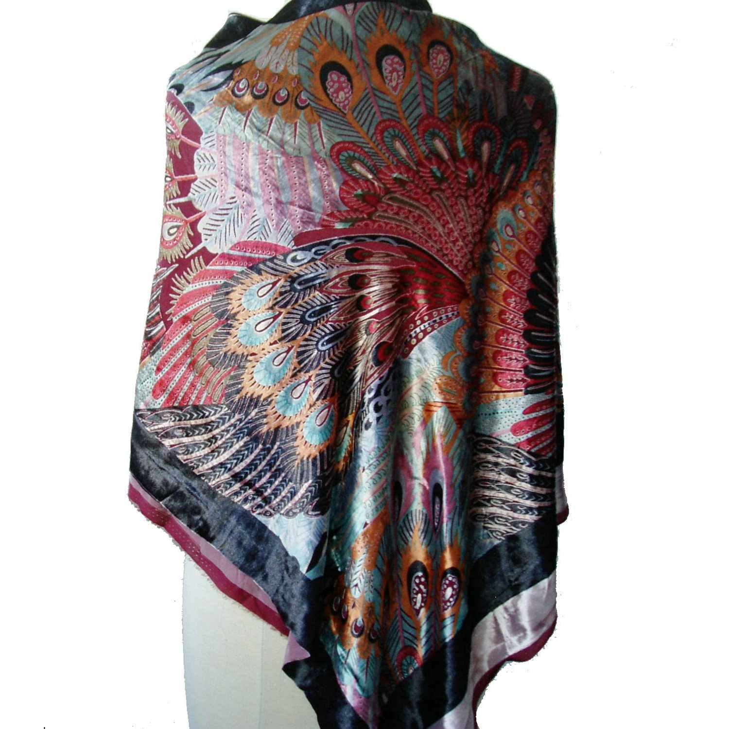 silk velvet burnout fabric for scarf shawls sewing 112X 105cm