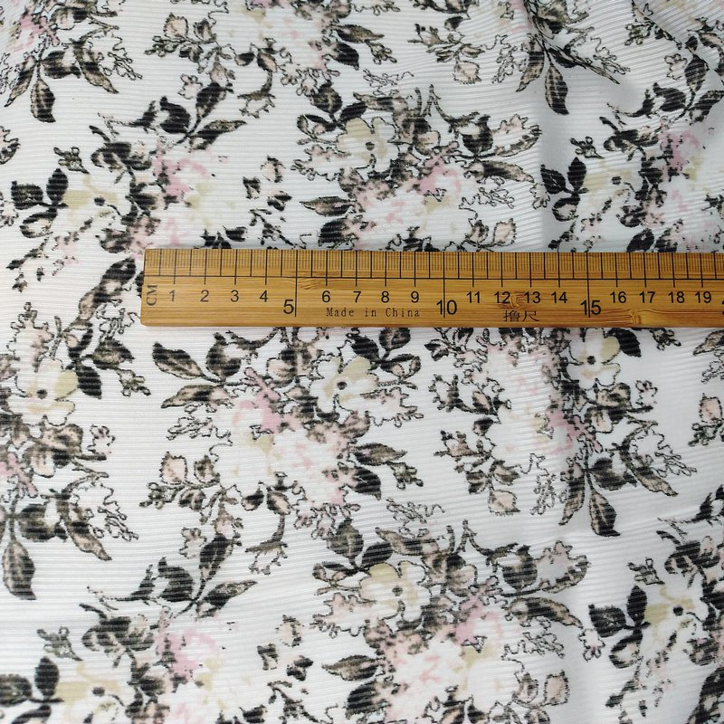 """silk linen blends fabric floral print 44"""" drape 16 momme  DIY sewing apparel fabric  on sale"""