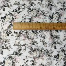 "silk linen blends fabric floral print 44"" drape 16 momme  DIY sewing apparel fabric  on sale"