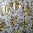 "luxury metallic embroidered silk georgette fabric flower print  55"" wide  sewing apparel fabric"