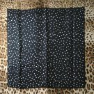 "Pure silk twill fabric with star leopard print 35""X34"" DIY scarf panel fabric"