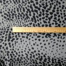 Silk stretch crepe de chine grey leopard print DIY sewing apparel fabrics- sell by meter