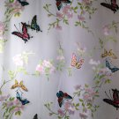 "burnout silk chiffon fabric sheer butterfly flower motif  44"" apparel fabric"