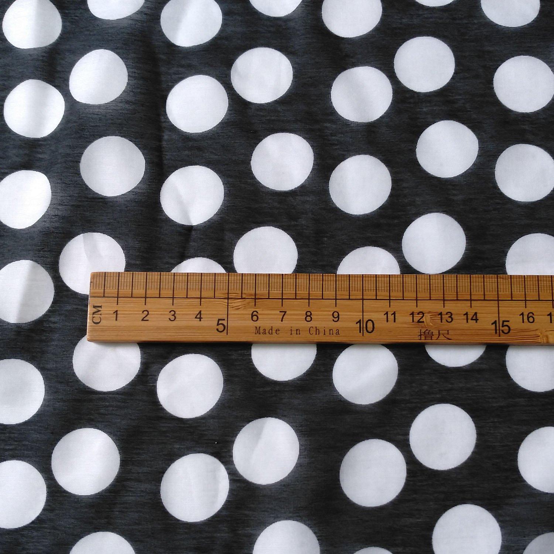 "silk cotton blend fabric polka dot pattern 43"" 10mmome DIY sewing fabric summer"