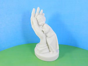 Pressed marble stone crumb Child boy on the Hand figurine