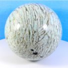 Big russian rare Amazonite in Pegmatite stone sphere (95 mm / 3.7 inch)