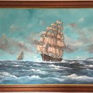 Clipper Ship Marine Oil Painting by Adrian Thompson (British, 20th/21st Century)