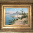 Ibiza Coast Antique Oil Painting by William Raymond Dommersen (1850–1927)