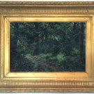 Forest Path Landscape Antique Oil Painting by Edgar Longstaffe (1852–1933)