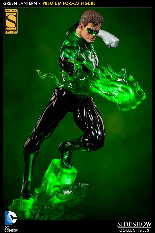 SIDESHOW GREEN LANTERN PREMIUM FORMAT  Statue EXCLUSIVE + ART PRINT