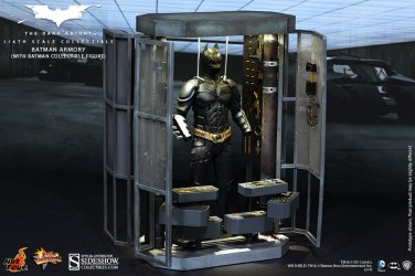 Batman Armory with Batman MMS 234 Sixth Scale Figure by Hot Toys The Dark Knight