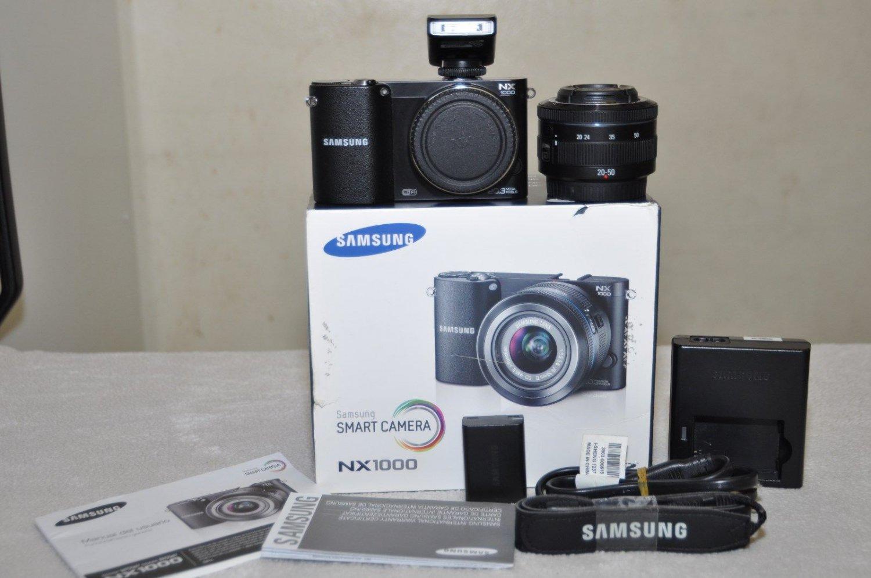 Samsung NX1000 20.3 MP Digital Camera - Black, Like New.
