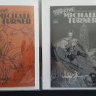 NYCC 2008 Signed Matching Numbered Michael Turner Ashcan Set Spider-Man Batman