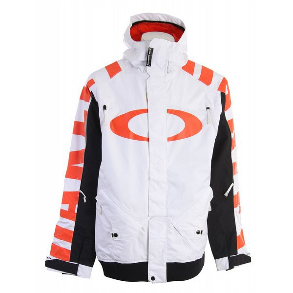 Oakley Pro Rider Series Mens Snowboard Ski Jacket XL Winter Snow Coat White. Long Sold Out/Used