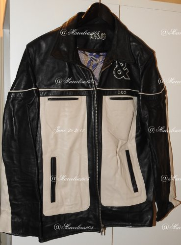 VINTAGE RARE DOLCE & GABANNA LEATHER JACKET L TWO TONE DESIGNER