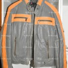 Very Rare SUPER GORGEOUS !!!  DIESEL  MEN WASHED  LEATHER BIKER JACKET L