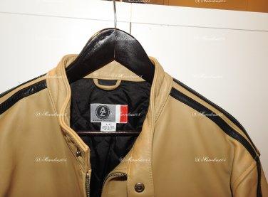 Arizona Jean Co. Genuine Leather Cafe Racer Motorcycle Jacket Large