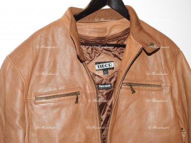 TIBOR   Flight Bomber Aviator Pilot Jacket Distressed insulated Brown Leather