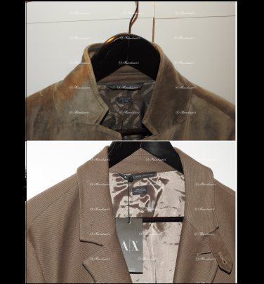 Two Armani Exchange A|X Mens Blazer:   Fleece Textured LG (new) and Velvet 42Reg 10 years old