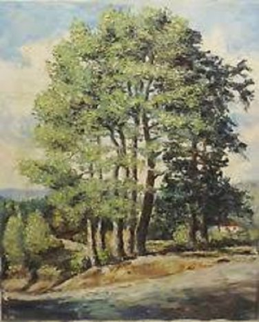Beautiful Oil Painting unframed Signed 1980 L. Be....  unclear