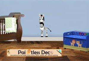 Zebra Wall Decal (full color) MEDIUM -ec