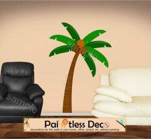 Palm Tree  Wall Decal (full color) MEDIUM -ec