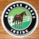 "Horse trailer decal sticker 12"" dia. Quarter Horse Inside"