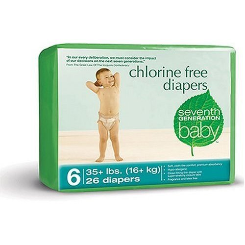 Seventh Generation Chlorine Free Diapers Stage 6 CASE
