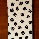 B&W Paw Print Magic Moneybook