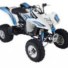 2008 QuadSport Z400 Blue/White Graphic Set (For White ATV)