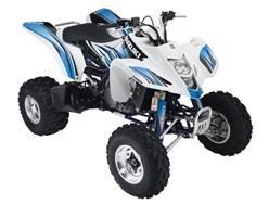 2008 QuadSport Z400 Blue/White Graphic Set (For White ATV)