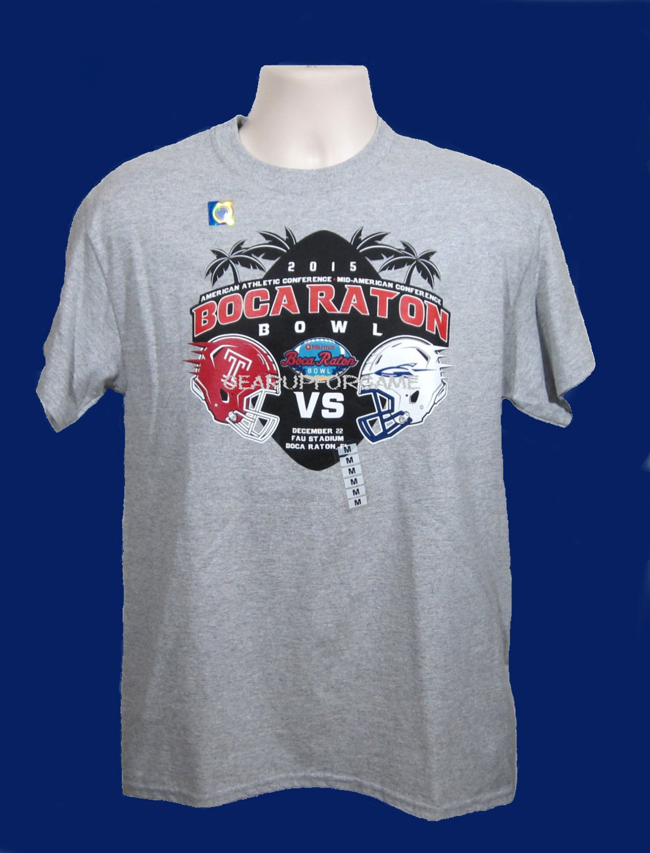 2015 Boca Raton Bowl Souvenir Tee - S/S Adult Medium - Gray
