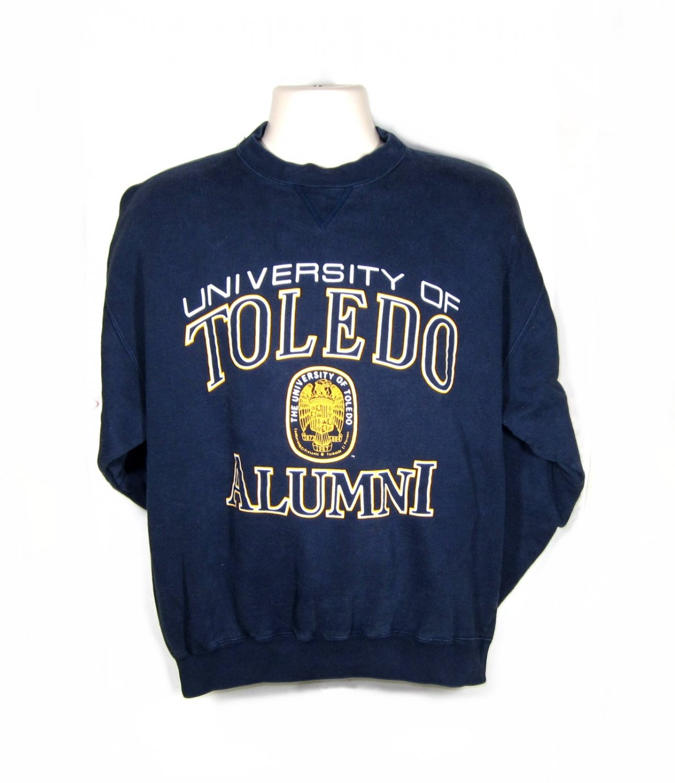 Toledo Alumni Fleece Shirt (Sweatshirt) Blue - L/S Adult Medium (M)