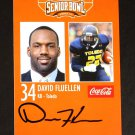 David Fluellen Autograph 2014 Senior Bowl