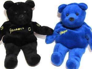 Wayne Gretzky and Jaromir Jagr Beanie Bears pair Blue Black No99 and No68