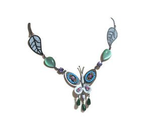 """Fashion Necklace Butterfly Colors 18"""" Quinceniera Vibrant Colors Lariat Style"""