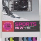 Action Sports Camera HD DV 1080P H.264 12MP 4X Zoom 32GB Memory Waterproof 30M