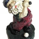 Golfing Santa Klaus Tee Time for Santa Four Figurine 5 in tall x 3 in wide Papa