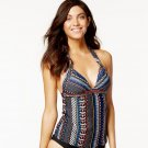 Bar III Tankini Top Multi Color Geometric Halter Swimsuit Size XL Retails for$65