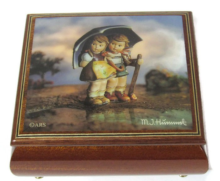 Authentic MJ Hummel Wooden Box Collectible No. 4417 Handcrafted Brahms Lullaby