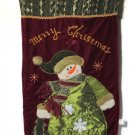 Holiday Snowman Wall Hanging 25 inch Christmas Tapestry Xmas Decor