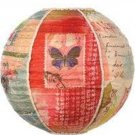 "Hanging Lantern KelleyRaeRoberts16""Round Silk Butterfly Discontinued Collectible"
