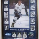 Autographed Gordie Howe Poster Mr Hockey+more Certificate of Authencity Included