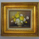 Vintage Original Oil Painting-Chan #813763 Certification Wall Art Flower Picture