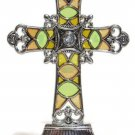 "Ganz Crosses of Faith 4"" tall Stained Glass May Blessings Surround You Car Ornam"