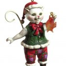 Jim Shore Christmas Cat with Fish Ornament NIB 4027756 HeartwoodCk 4.5 inch tall