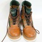 Vintage Orvis Fishing Wading Boots Tan Leather/Green Felt Bottom Sz 10 men Retro
