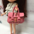 Dollhouse Miniatures Pink Fashion Handbag for Blythe/Barbie/Pullip/Licca Doll