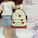 "Cream With Red Polka Dot School Bag for 12"" Doll /Blythe/Barbie/Pullip Doll"