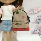 "Brown With Multi Color Polka Dot School Bag for 12"" Doll /Blythe/Barbie Doll"